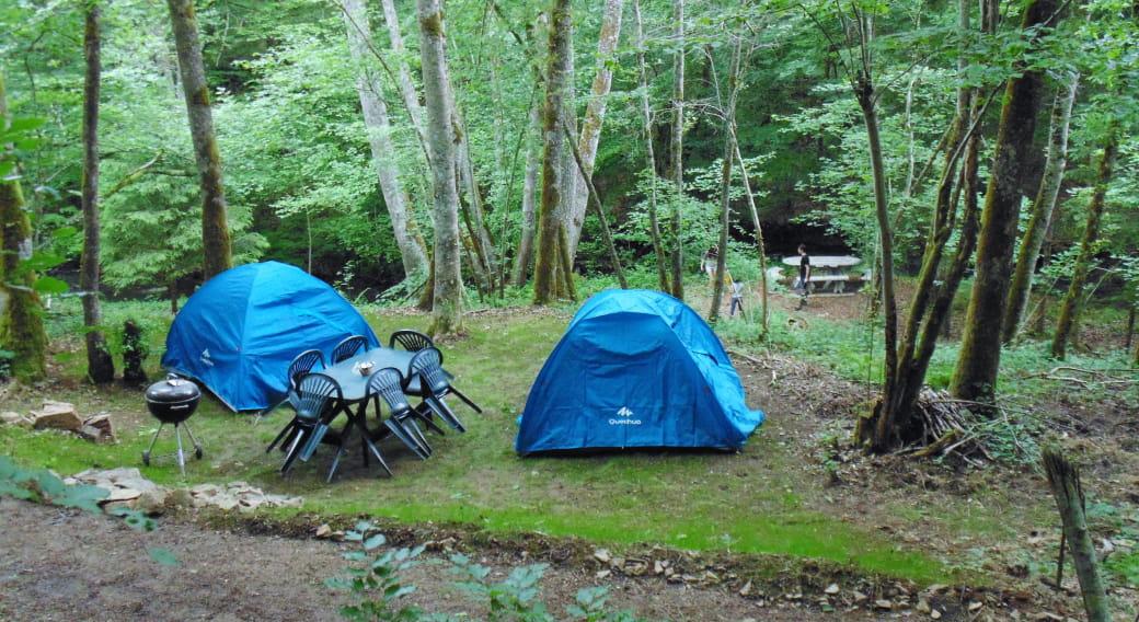 Terrain de camping ombragé