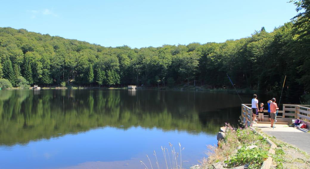 Site de pêche du lac de Gayme à Picherande