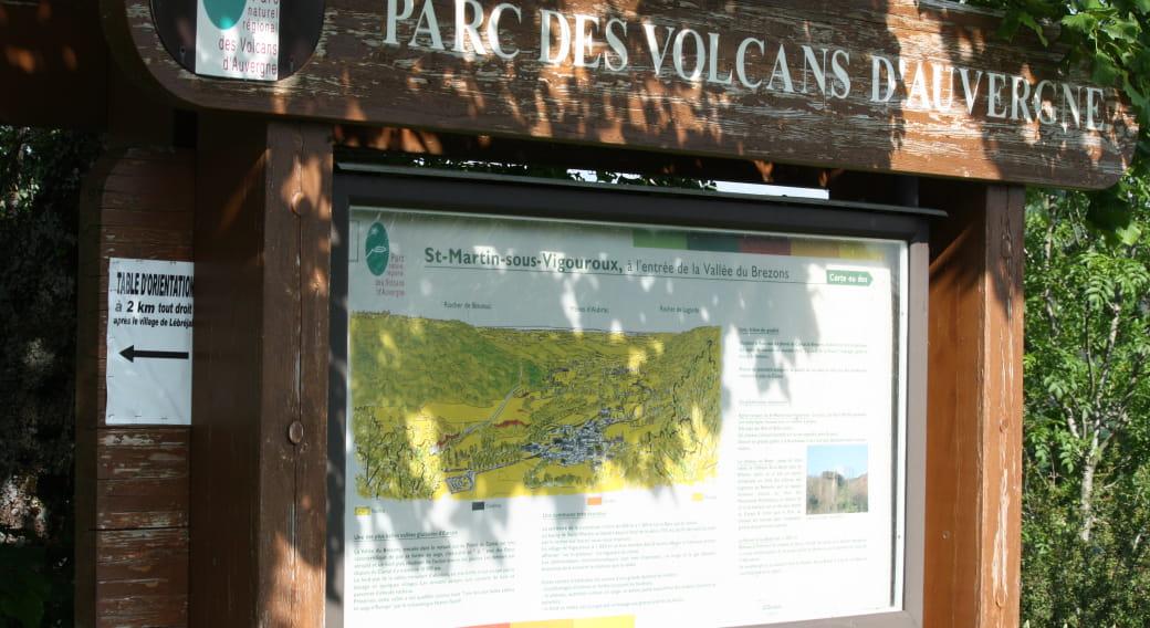 Panneaux du parc des Volcans