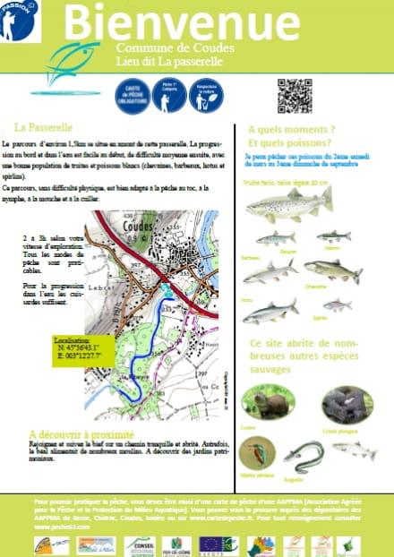 Parcours pêche passion : la passerelle