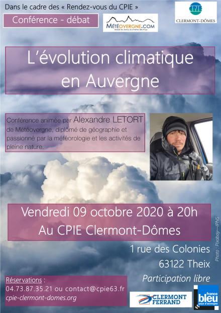 L'évolution climatique en Auvergne