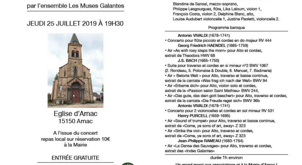 Concert Vivaldi par l'Orchestre 'Les Muses Galantes'