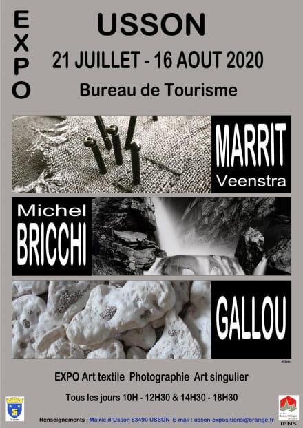 Exposition Michel Bricchi - Marrit Veenstra - Gallou
