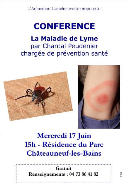 Annulé - Conférence : la maladie de Lyme