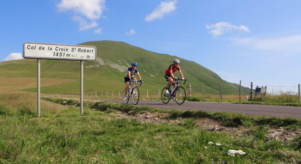 Cyclotourisme : montée du Col de la Croix-Saint-Robert