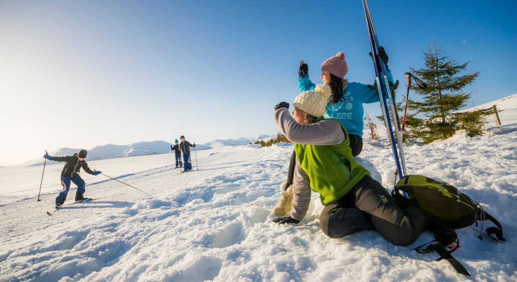 Ski de fond, Domaine Nordique du Guéry - massif du Sancy (63)