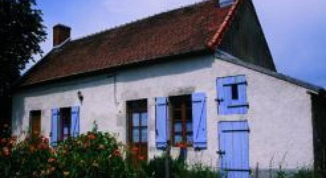 Gite les Brieres à montoldre dans l'Allier, Façade avant