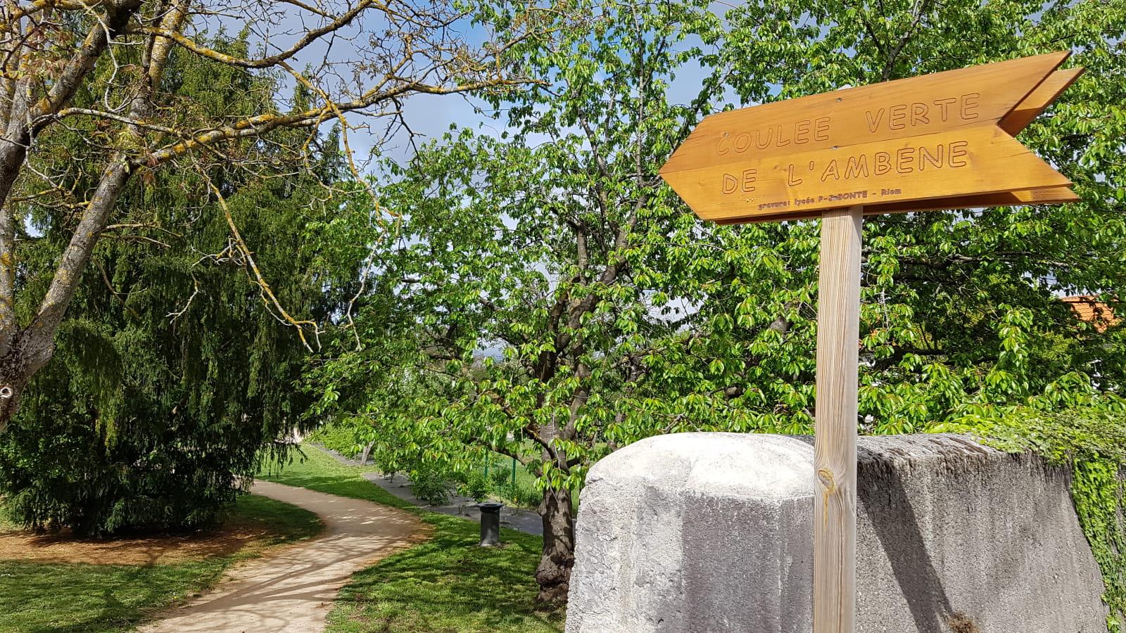 Sentier proche gare RIOM