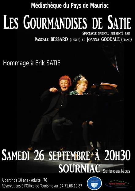 Spectacle : Les gourmandises de Satie, hommage à Erik Satie