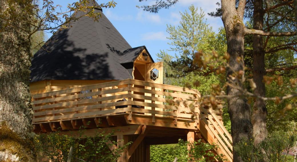 Cabane vue d'extérieur