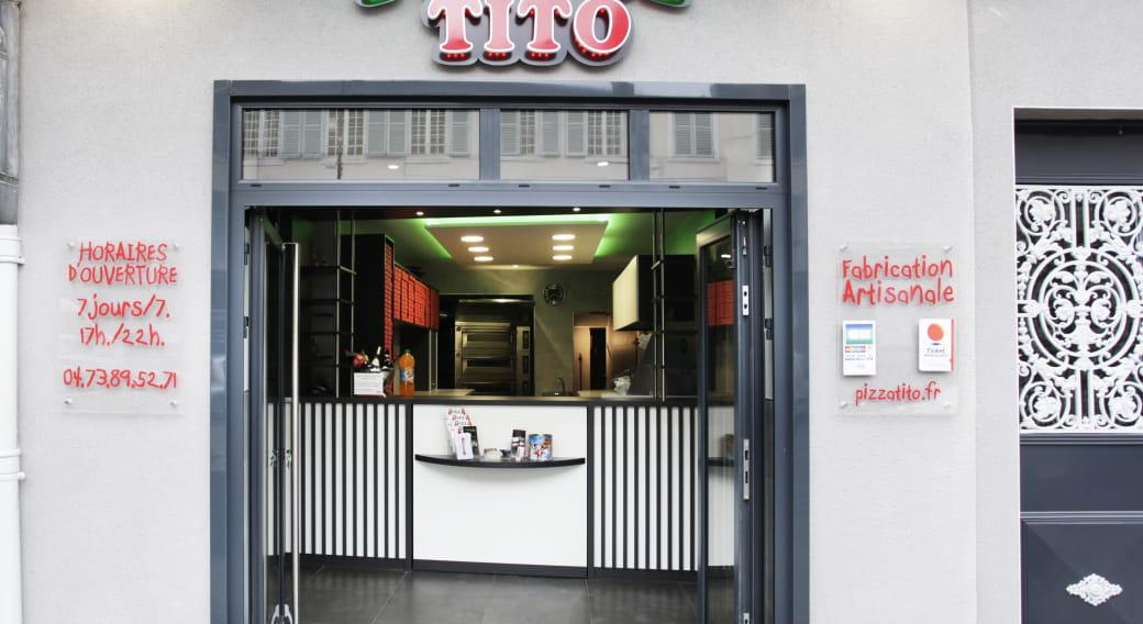 Devanture Pizza Tito - Issoire