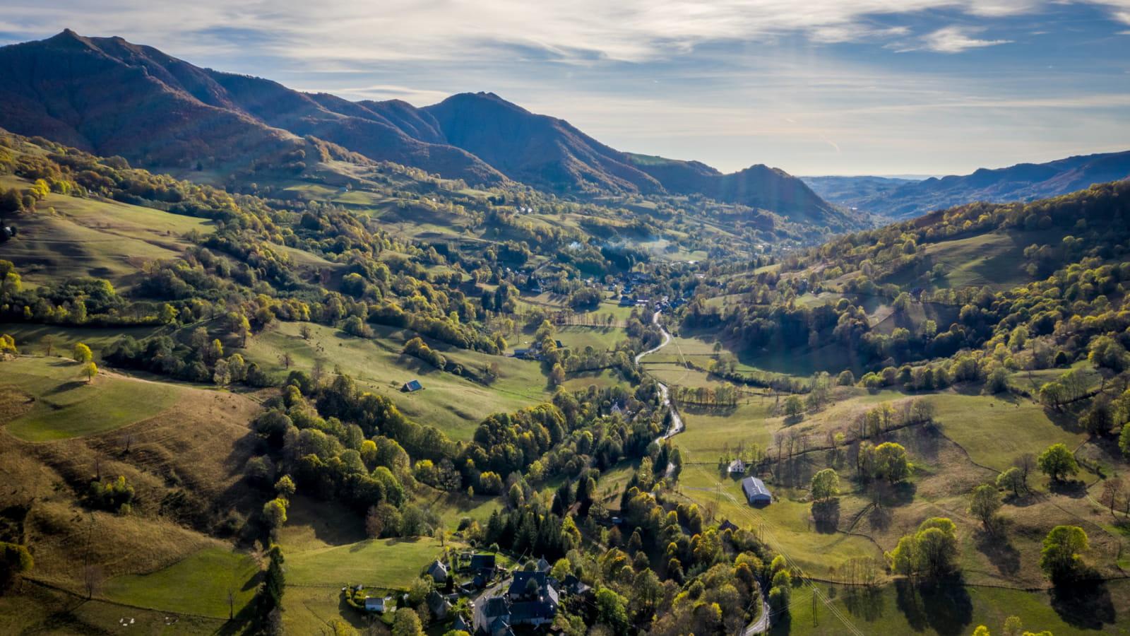 Vue sur les Monts du Cantal