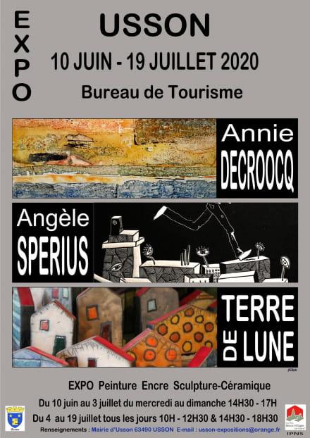 Exposition Annie Decroocq - Angèle Spérius - Terre de Lune