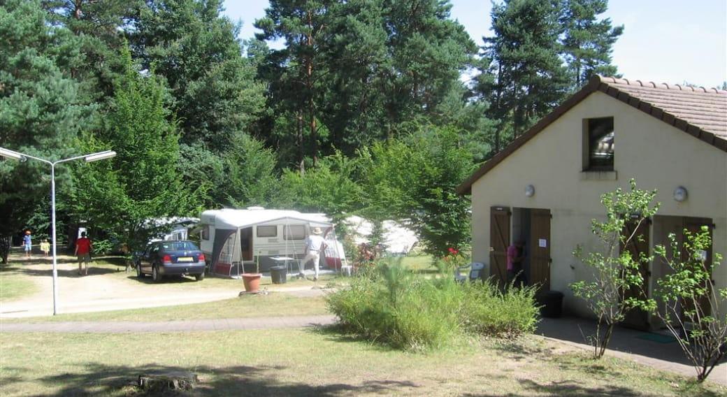 Entrée et accueil du camping