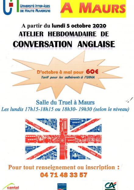 Atelier de conversation anglaise à Maurs