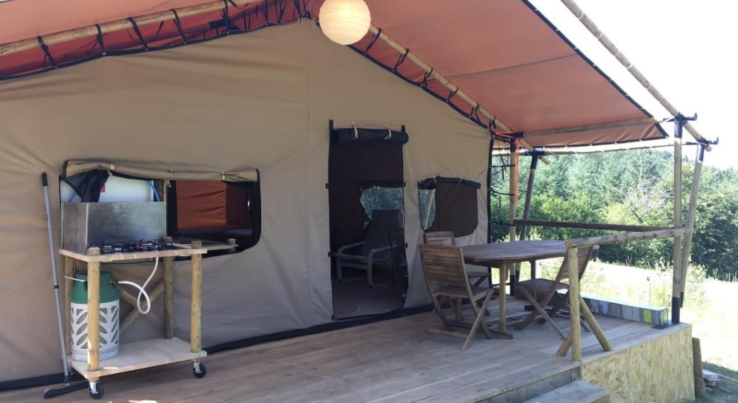 Tente safari de l'Auberge du Précontent