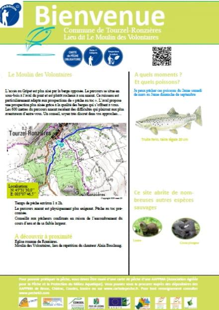 Parcours pêche passion : le Moulin des Volontaires