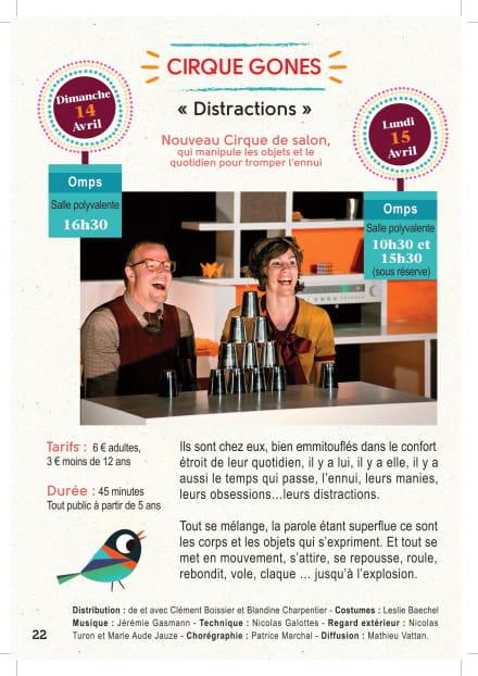 Spectacle 'Distractions' par le Cirque Gones à Omps