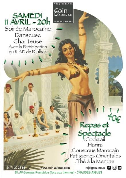 Soirée marocaine à Coin d'Aubrac
