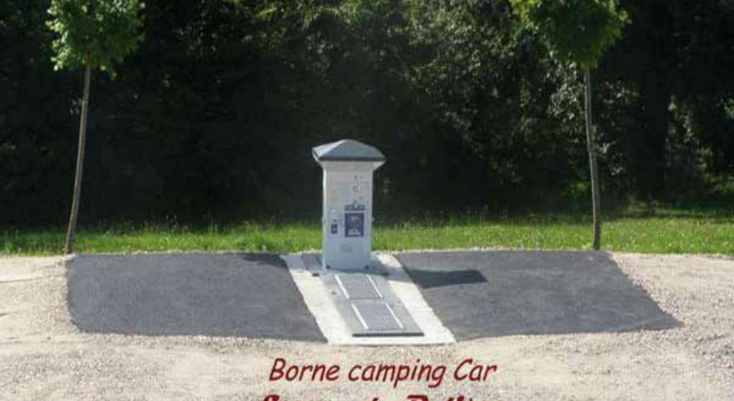 Borne aire camping car Beauzac