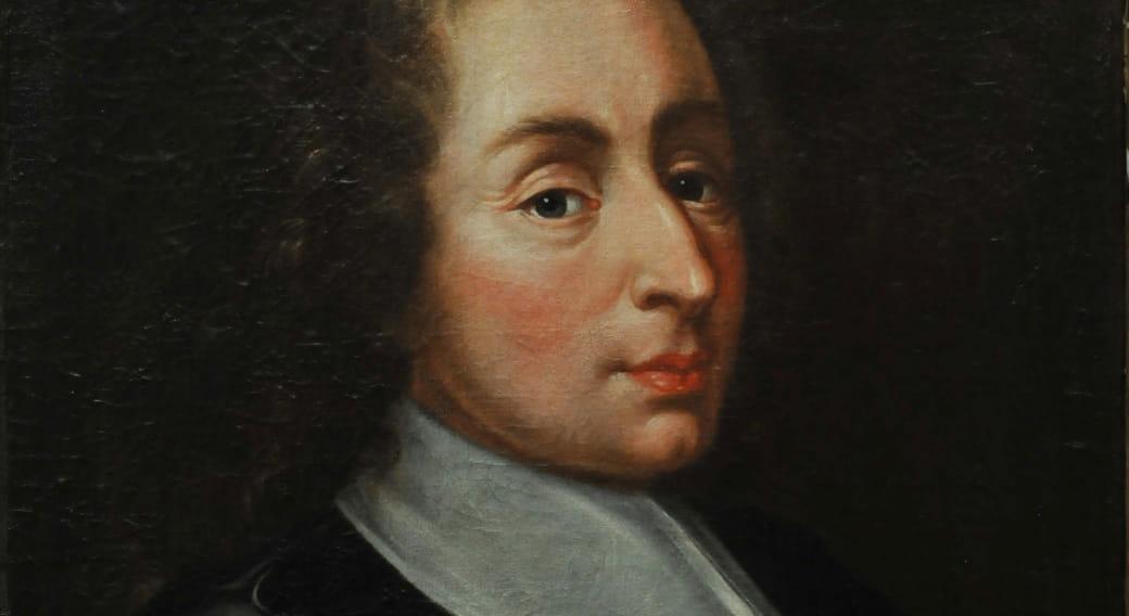 Blaise Pascal François II Quesnel huile sur toile XVII éme