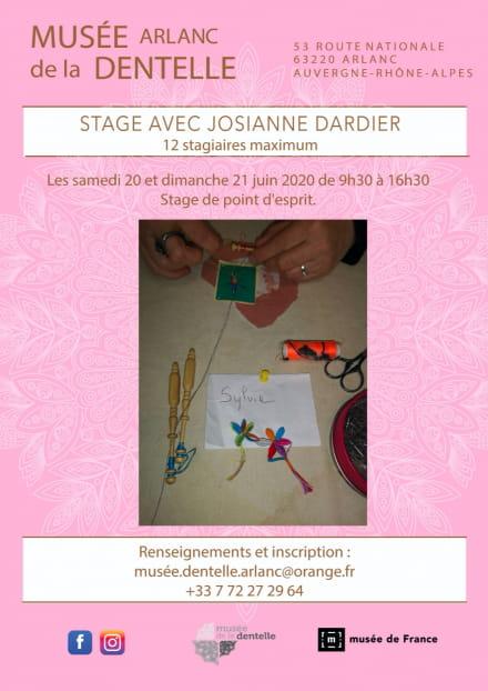 Annulé - Stage avec Josianne Dardier