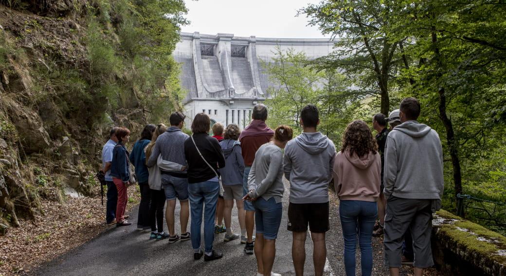 Visite du barrage de St Etienne Cantalès