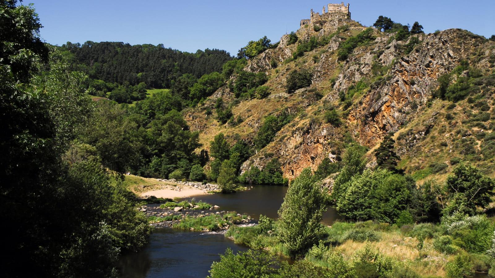 La Loire à Goudet sur le chemin de Stevenson GR 70